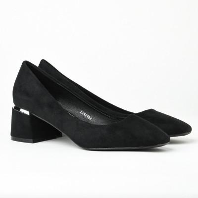 Cipele na malu štiklu L242124 crne