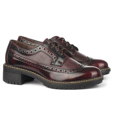 Cipele na pertlanje C1738 bordo