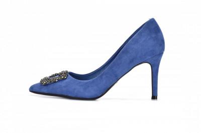Cipele na štiklu L242073 plave