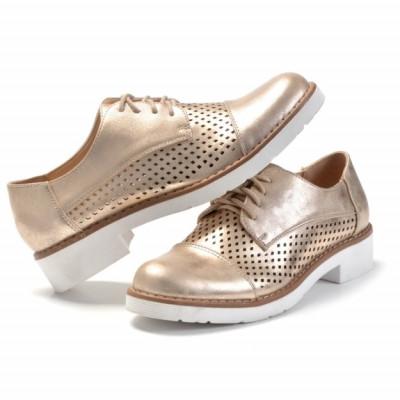 Cipele oksfordice L56806 zlatne