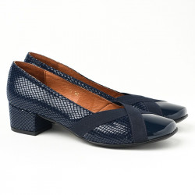 Cipele sa kožnom postavom M-128 teget
