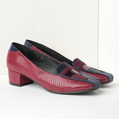 Cipele sa kožnom postavom M-231 KP bordo