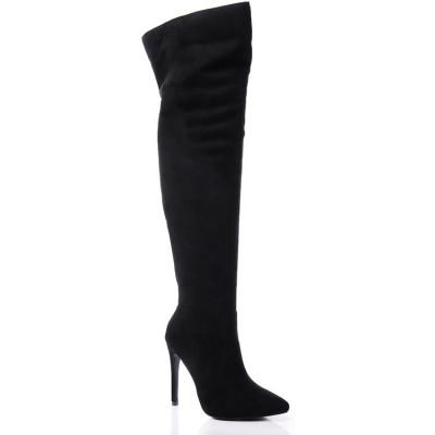 Čizme na štiklu preko kolena LX2338 crne