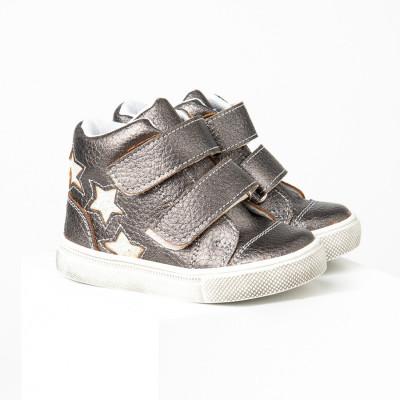 Dečije cipele sa anatomskim uloškom S035 tamno srebrne