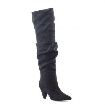 Duboke čizme na štiklu LX86267 crne