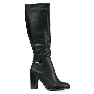 Duboke ženske čizme LX051826 crne
