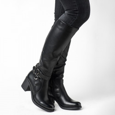 Duboke ženske čizme LX561835 crne