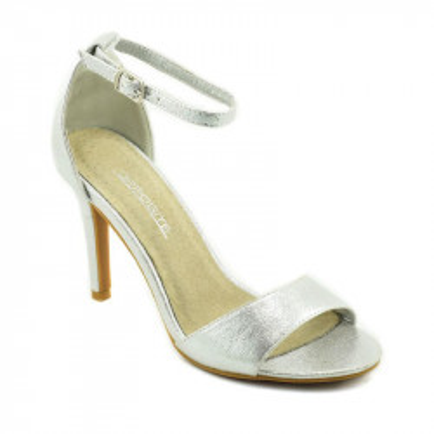 Elegantne sandale na štiklu LS021510 srebrne