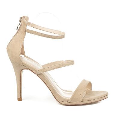 Elegantne sandale na štiklu S8305 bež