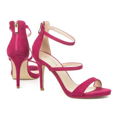 Elegantne sandale na štiklu S8305 pink