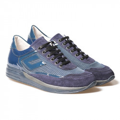 Kožne cipele/patike na akciji 2614 teget