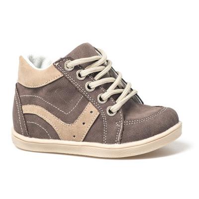 Kožne dečije cipele sa anatomskim uloškom B02 braon/bež