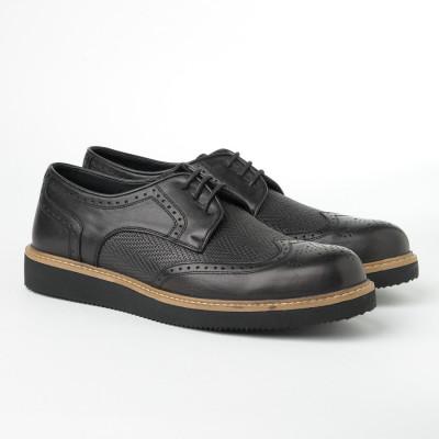 Kožne muške cipele 2019-3 crne