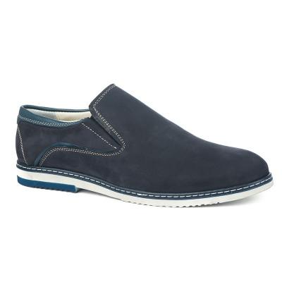Kožne muške cipele 5414 teget