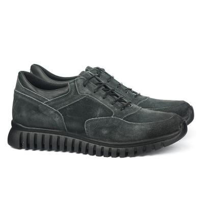 Kožne muške cipele 6408 sive