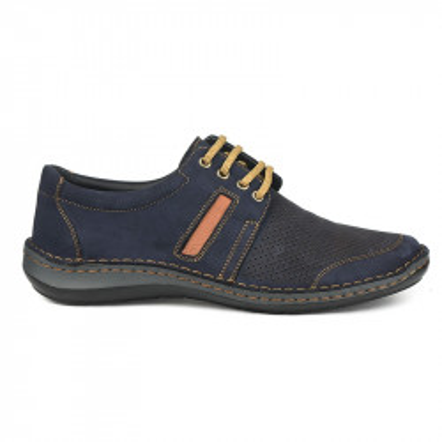 Kožne muške cipele 9559 teget