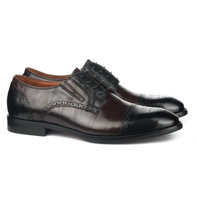 Kožne muške cipele HL1051D-5-M110-M111 braon-crne
