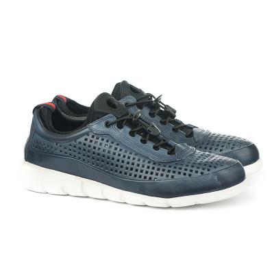 Kožne muške cipele / patike N40001 teget