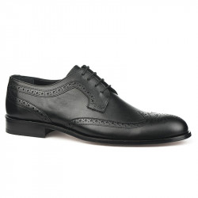 Kožne muške cipele sa kožnim đonom 837 crne
