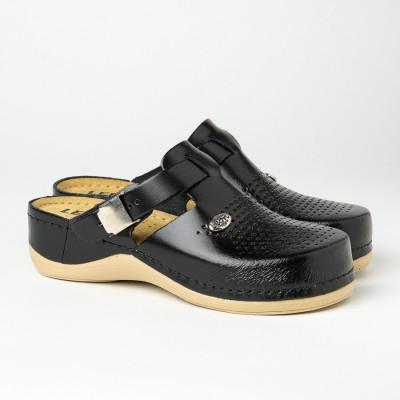 Kožne papuče/klompe 900 crne