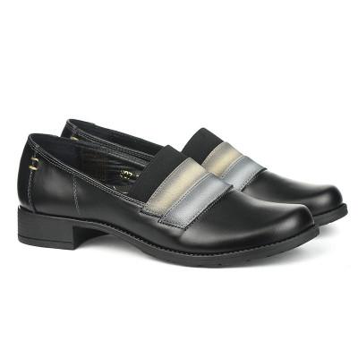 Kožne ženske cipele 2-807 crne