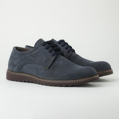 Muške kožne cipele Gazela 7010/017 teget velur