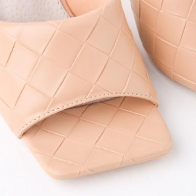 Papuče na štiklu LP242127 bež