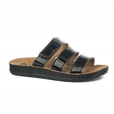 Ravne papuče 19780 crne