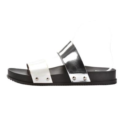 Ravne papuče LP02852 srebrne