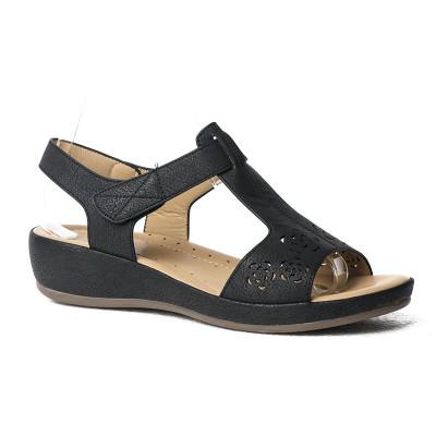 Ravne sandale F96 crne