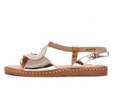 Ravne sandale LS021903 zlatne