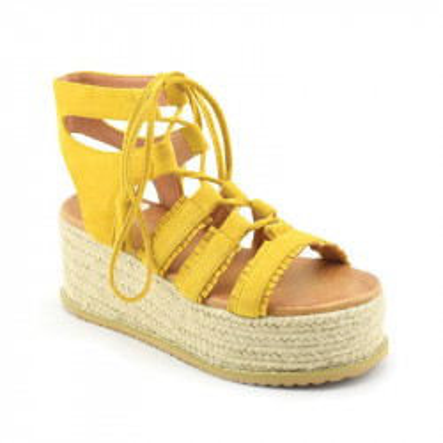 Sandale na debelom djonu LS021700 žute