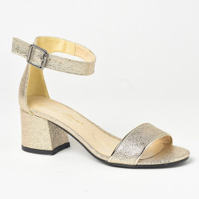 Sandale na štiklu 229-183 zlatne