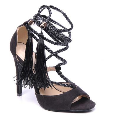Sandale na štiklu LS0097 crne