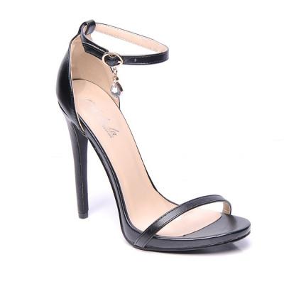 Sandale na štiklu LS0101 crne