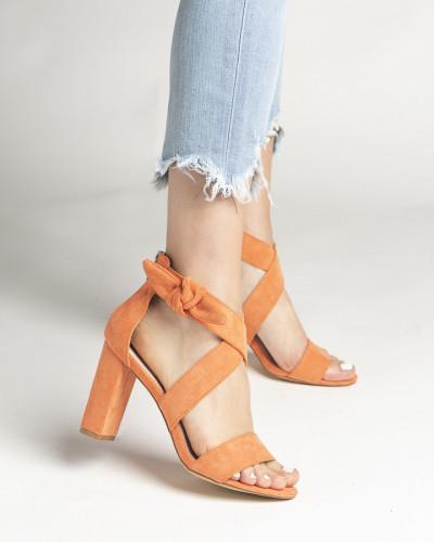 Sandale na štiklu LS021157 narandžaste