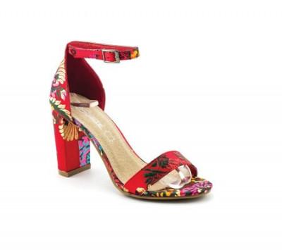 Sandale na štiklu LS91556 crvene
