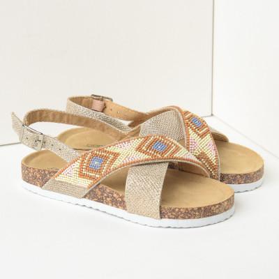 Sandale za devojčice CS91220 zlatne (brojevi od 28 do 35)