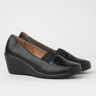Ženske cipele na ortoped petu CA595 crne