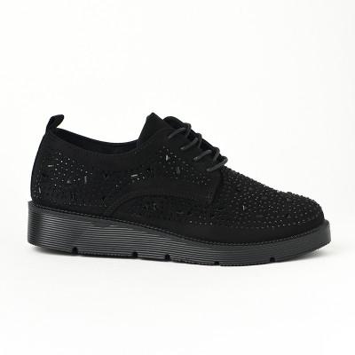 Ženske cipele na pertlanje L90854-1 crne