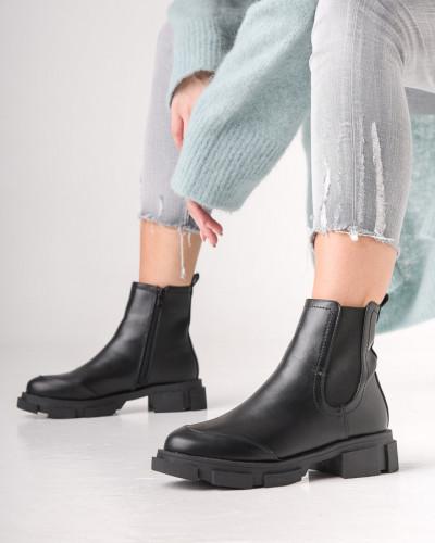 Ženske čizme na navlačenje A888 crne