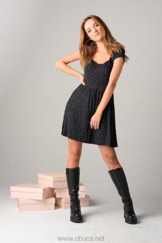 Ženske duboke čizme XT2551 crne kroko