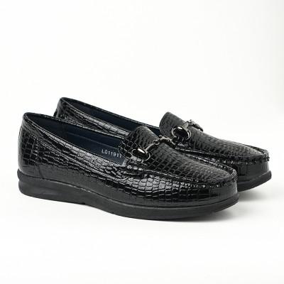Ženske lakovane cipele / mokasine L011911 crne