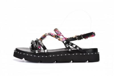 Ženske sandale na debelom djonu LS782101 crne