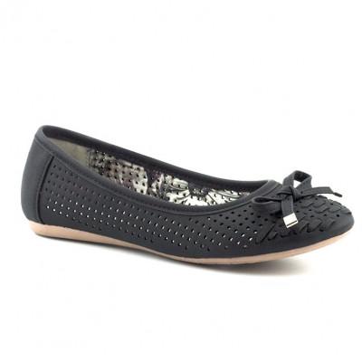 Baletanke sa kožnom tabanicom L71220-2 crne