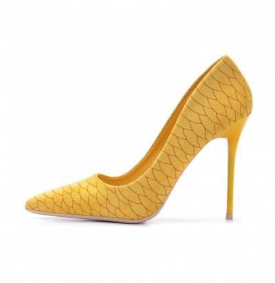 Cipele na štiklu L241915 žute