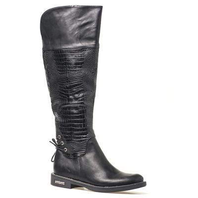 Duboke ravne čizme A1552 crna