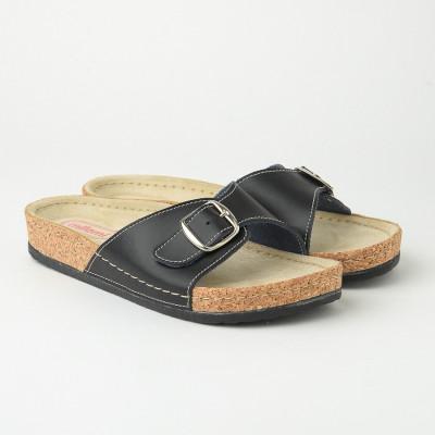 Kožne anatomske papuče 510 crne