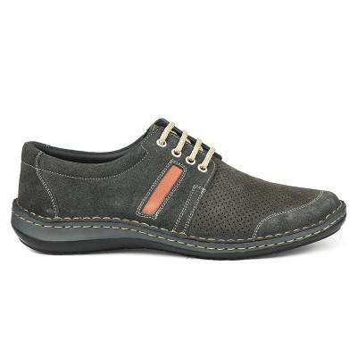 Kožne muške cipele 9559 sive