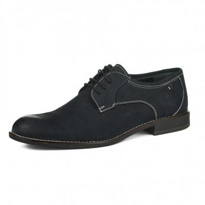 Kožne muške cipele P15608 teget